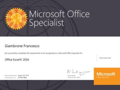 Certificazione Excel