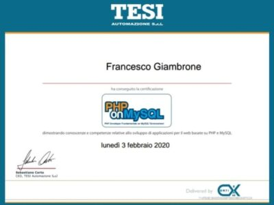 Certificazione PHP on My SQL