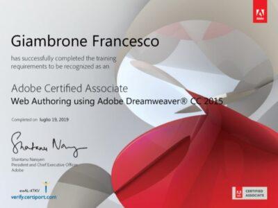 Certificazione Dreamweaver